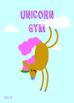 postkarte-unicorn-gym